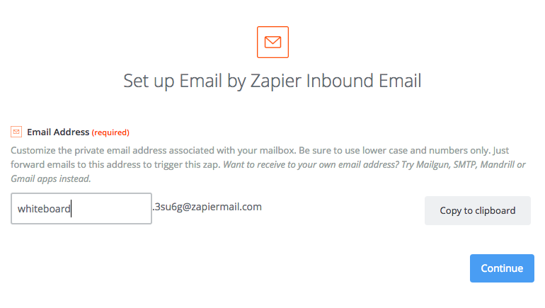 Email by Zapier address